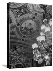 Paintings and Details on the Ceiling of the President's Room in the US Capitol Building by Margaret Bourke-White
