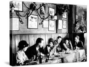 Patrons at a Prohibition Protected Speakeasy Popular for Drinking Aviators by Margaret Bourke-White