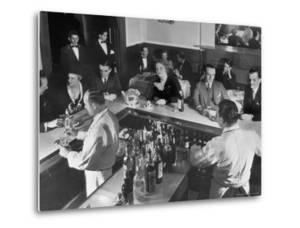 Patrons Enjoying the Ambiance at This Popular Speakeasy, a Haven For Drinkers During Prohibition by Margaret Bourke-White