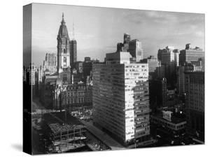 Pennsylvania Center Plaza and Town Hall in the Center of the City by Margaret Bourke-White