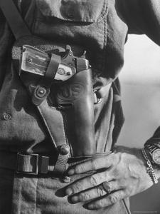 Photo of Lt. John Ernser's girlfriend, Leader of Infantry, Attack in German Fortification Positions by Margaret Bourke-White