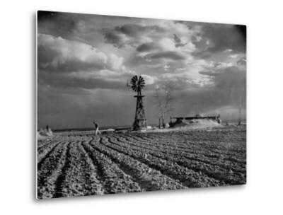 Picture from the Dust Bowl,With Deep Furrows Made by Farmers to Counteract Wind