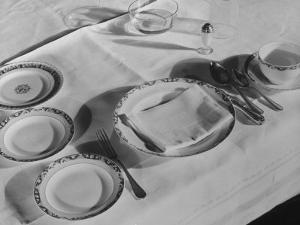 Place Setting of Supreme Court Justice Willis Van Devanter, Dining Room of Supreme Court Building by Margaret Bourke-White