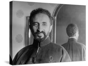 Portrait of Exiled Ethiopian Emperor Haile Selassie by Margaret Bourke-White