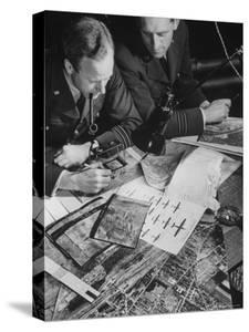 RAF Liaison Officers at US 8th Air Force Bomber Command by Margaret Bourke-White