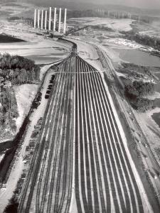 Railroad Tracks Leading to World's Biggest Coal-Fueled Generating Plant, under Construction by TVA by Margaret Bourke-White