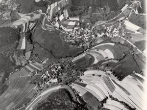 Richly Patterned Fields Surrounding the Houses in the Neckar River Valley near Heidelberg by Margaret Bourke-White