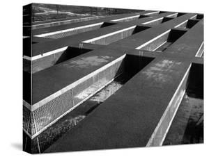 Rows of Grill-Covered Ventillation Housings Atop Roof of the Industrial Rayon Corp. Factory by Margaret Bourke-White