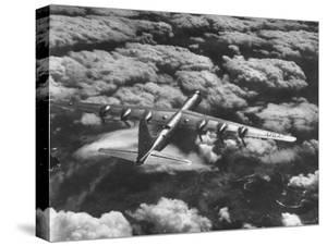 SAC's B-36 Bomber Plane During Practice Run from Strategic Air Command's Carswell Air Force Base by Margaret Bourke-White