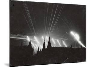 Silhouette of the Embattled Kremlin During German Bombing Raid on the City by Margaret Bourke-White