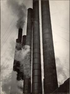 Smokestacks of Steel Plant, Taken from Boulevard of the Allies by Margaret Bourke-White