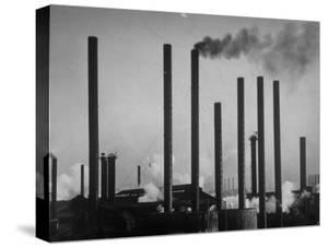 Smokestacks of Us Steel Plant by Margaret Bourke-White