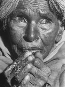 Starving Middle Aged Indian Woma, a Result of Famine over the Last 2 Years Due to a Drought by Margaret Bourke-White