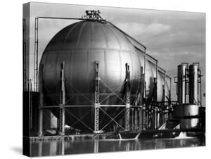 Storage Tanks at a Texaco Oil Refinery by Margaret Bourke-White