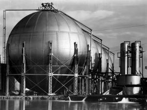 Storage Tanks at a Texaco Oil Refinery by Margaret Bourke-White