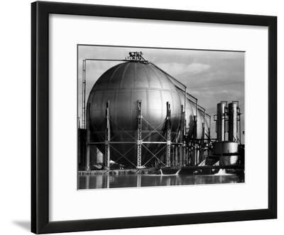 Storage Tanks at a Texaco Oil Refinery