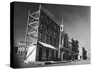 Street Set Used in Production of Movie Westerns on Paramount Studios Ranch by Margaret Bourke-White