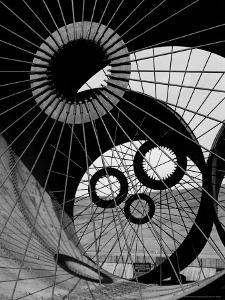 Support Struts Inside Section of a Giant Pipe Used to Divert Flow of Missouri River by Margaret Bourke-White