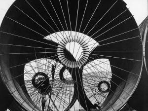 Support Struts Inside Section of Pipe Used to Divert the Flow of the Missouri River, Fort Peck Dam by Margaret Bourke-White