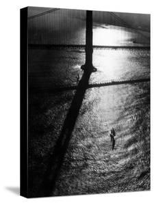 Suspension Tower of the Golden Gate Bridge at Sunrise by Margaret Bourke-White