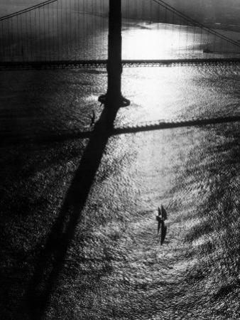 Suspension Tower of the Golden Gate Bridge at Sunrise