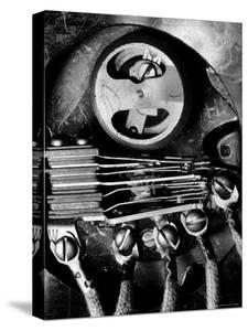 Telephone Dial Displaying a Wheel Which is regulated by the governer through Speed of the Dial by Margaret Bourke-White