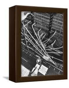 Telephone Operator's Hand Writing on Notepad in New York Telephone Co. Office by Margaret Bourke-White