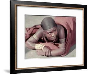 Tembu Miner Wearing Red Ochre Dyed Blanket Awaits Medial Check, Johannesburg, South Africa 1950 by Margaret Bourke-White