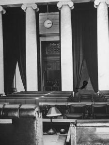 The Courtroom of the Supreme Court Seen from Behind of the Nine Justices by Margaret Bourke-White