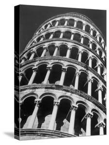 The Famous Leaning Tower of Pisa, Spared by Shelling in WWII, Still Standing in the Ancient Town by Margaret Bourke-White