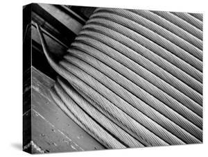 Thick Aluminum Cable Being Wound on a Huge Spool, Aluminum Company of America Factory by Margaret Bourke-White