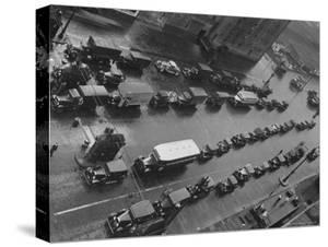 Traffic Piled Up at the New Jersey Entrance of the Holland Tunnel by Margaret Bourke-White