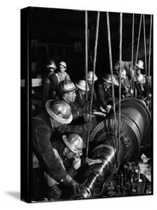 TVA Workers Installing Huge Generator at World's Largest Coal Fueled Steam Plant by Margaret Bourke-White
