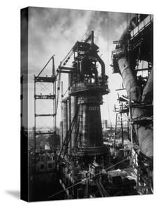 Under Construction Blast Furnace at Magnitogorsk Metallurgical Industrial Complex by Margaret Bourke-White