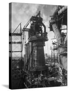 Under-Construction Blast Furnace at Magnitogorsk Metallurgical Industrial Complex by Margaret Bourke-White