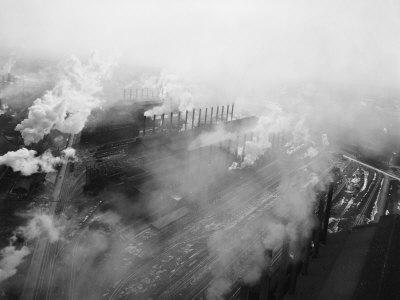 US Steel Aerial. Gary, Indiana. 1951