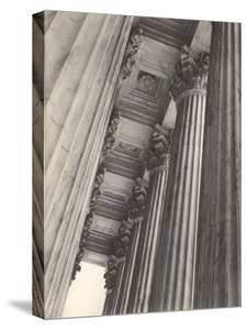View of Columns and Carved Ceiling on the Portico of the Supreme Court Building by Margaret Bourke-White