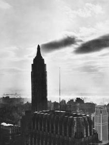 View of the Empire State Building Still under Construction in New York City by Margaret Bourke-White
