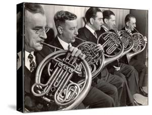 View of the French Horn Section of the New York Philharmonic by Margaret Bourke-White