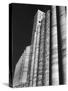 View of the Huge Elam Grain Company's Grain Elevators by Margaret Bourke-White