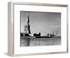 View of the Statue of Liberty and the Sklyline of the City by Margaret Bourke-White