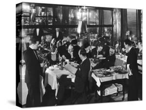 Waiters Serving at Marlborough House, a Speakeasy Haven For Drinking Socialites During Prohibition by Margaret Bourke-White