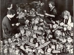 Women Working in Toy Factory by Margaret Bourke-White