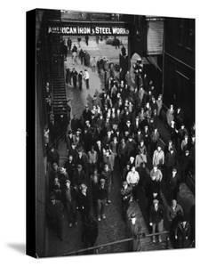 Workers Leaving Jones and Laughlin Steel Plant at 3 P.M. Shift by Margaret Bourke-White