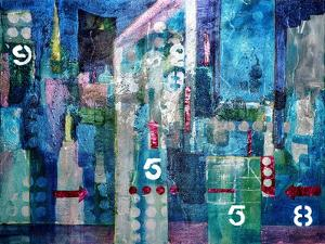 City Lights- London by Margaret Coxall