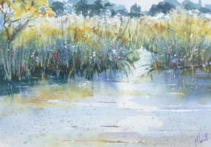Quiet waters flow by Margaret Coxall