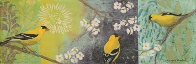 Goldfinches Blooming by Margaret Donharl