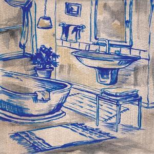 Deep Blue Bath I by Margaret Ferry