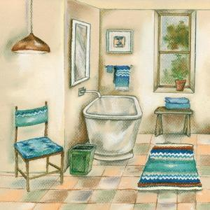 Tile Bath I by Margaret Ferry