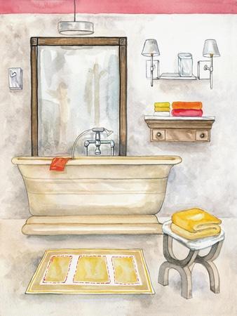 Watercolor Bath II